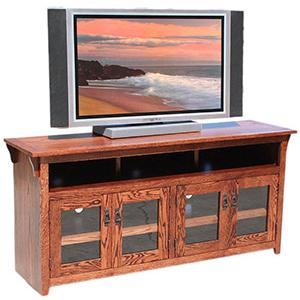American Mission Oak65 Four-Door TV Console