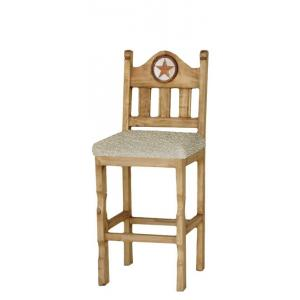 Short Texas Bar Stoolw/Inlaid Marble & Cushion