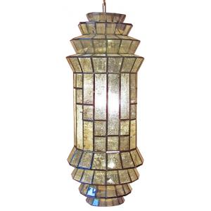 Cascada Lanternw/Antiqued Glass