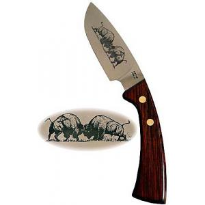 Curved Steak Knifew/Buffalo Etching