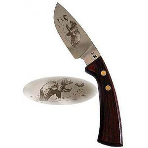Curved Steak Knifew/Grizzly Etching
