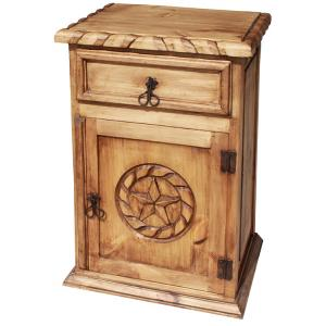 Star Nightstand w/Rope Edge(Door opens Right)