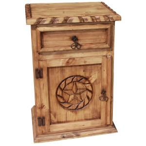 Star Nightstand w/Rope Edge(Door opens Left)