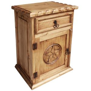 Texas Nightstand w/Rope Edge(Door opens Left)