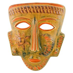 Clay Mask:Shaman w/ Sun & Moon