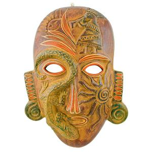 Clay Mask:Shaman w/ Kokopelli