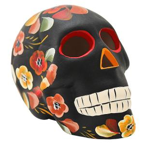 Skull w/ Painted Flowers