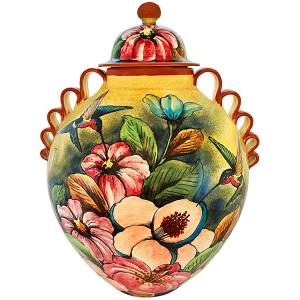 Hummingbird Large Ginger Jar