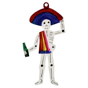 Skeleton w/ Beer Ornament