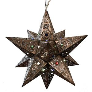 Bell Star w/Marbles:Oxidized Finish