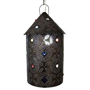 Bell Lantern w/Marbles:Oxidized Finish