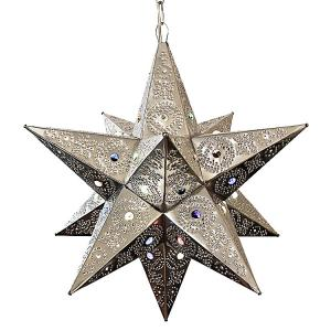 Bell Star w/Marbles:Natural Finish