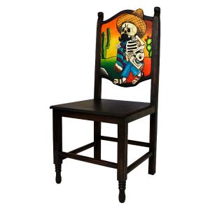 Borracho MuertoCarved Chair