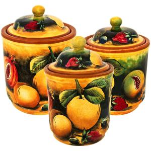 Round FruitKitchen Canister