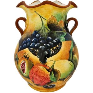 Assorted FruitMajolica Vase