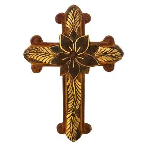 Orthodox Cross w/Flower