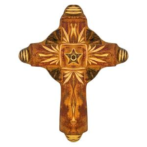 Rustic Cross with Star