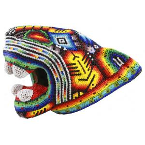 Huichol Jaguar Head