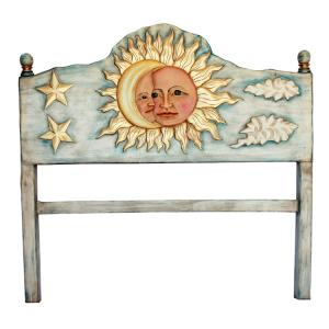 Sun & MoonCarved Headboard