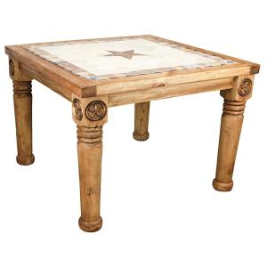 Frontera Dining Tablew/Inlaid Marble