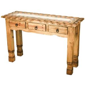 Texana Console Tablew/Inlaid Marble