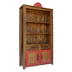 Tall New Mexico Bookcase:Red Earth Finish