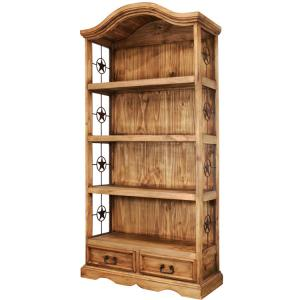 Bonnet Top Bookcase w/Stars