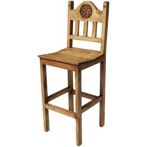Tall Lone Star Bar Stool