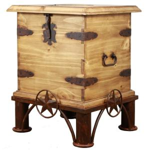 Lone Star End Table Trunk