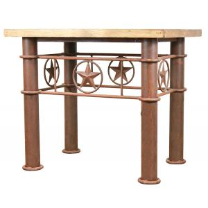 Iron Star End Table