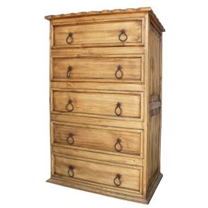 Tall 5-Drawer Dresserw/Rope Edge