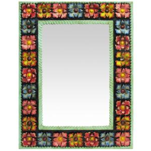 Painted Flowers Mirror