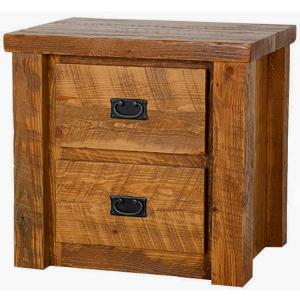 Barnwood 2-Drawer Nightstand