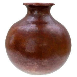 Quiroga Copper Vase: Natural Finish