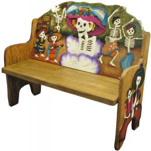Day of the Dead Bench