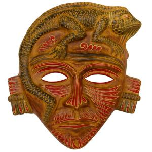 Clay Mask:Iguana Headdress