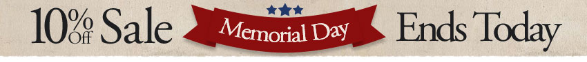 Memorial Day Sale Ends Today
