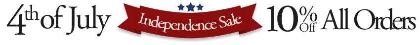 4th of July Sale - 10% Off All Orders