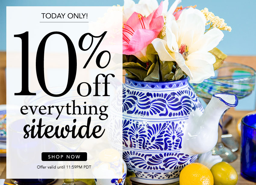 Today Only - 10% Off All Orders