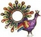 Purple Peacock Mirror
