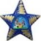 Blue Nativity Star