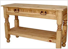 Rustic Pine Console/Sofa Tables