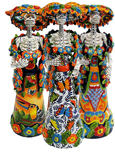 Day of the Dead Talavera Catrinas