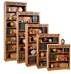 Rustic Oak &amp; Slate Bookcases