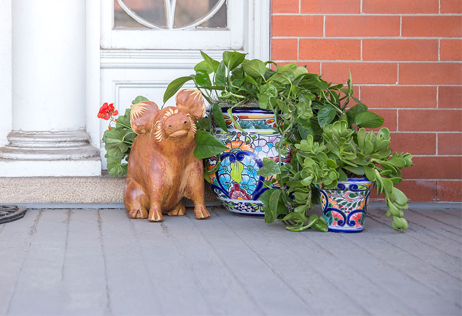 Planters on Porch