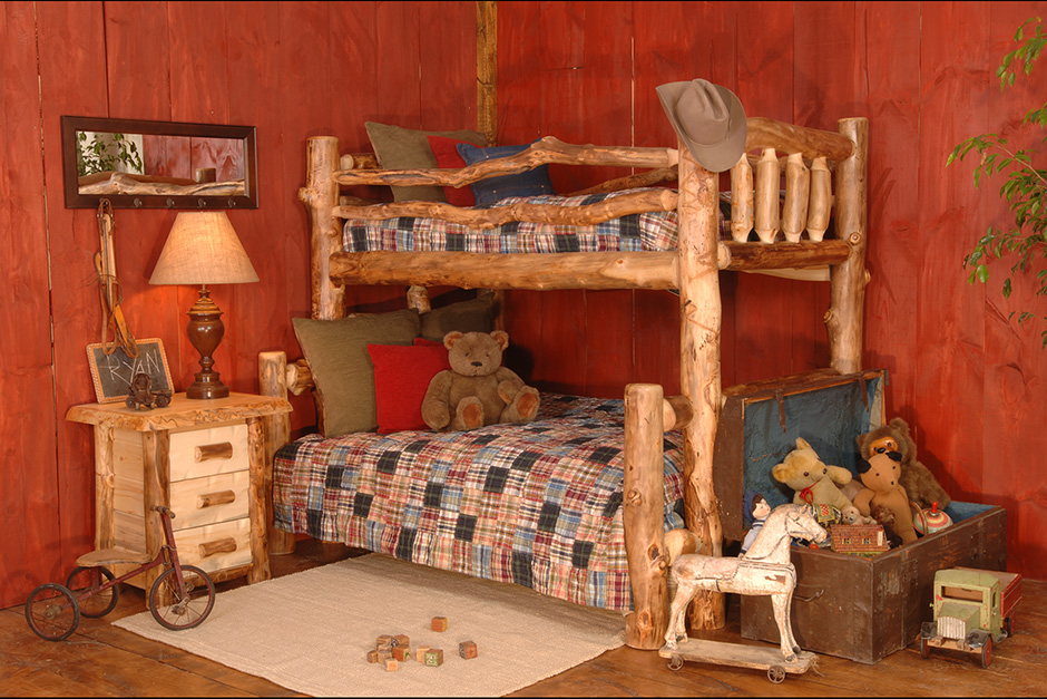 Aspen Log Bunk Beds