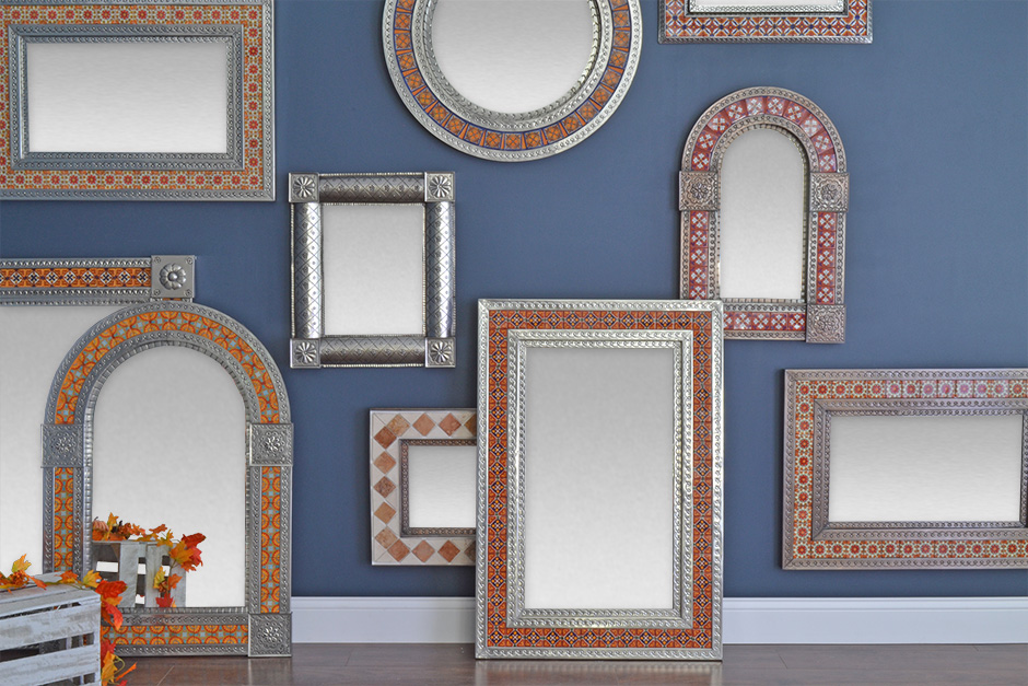 Tin and Tile Mirrors