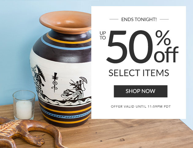 Up To 50% Off Select Items