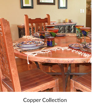 Copper Collection Dining Tables