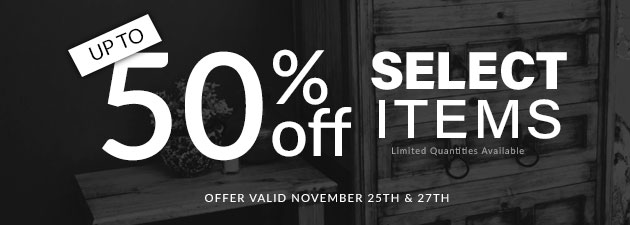 Up to 50% Off Select Items.